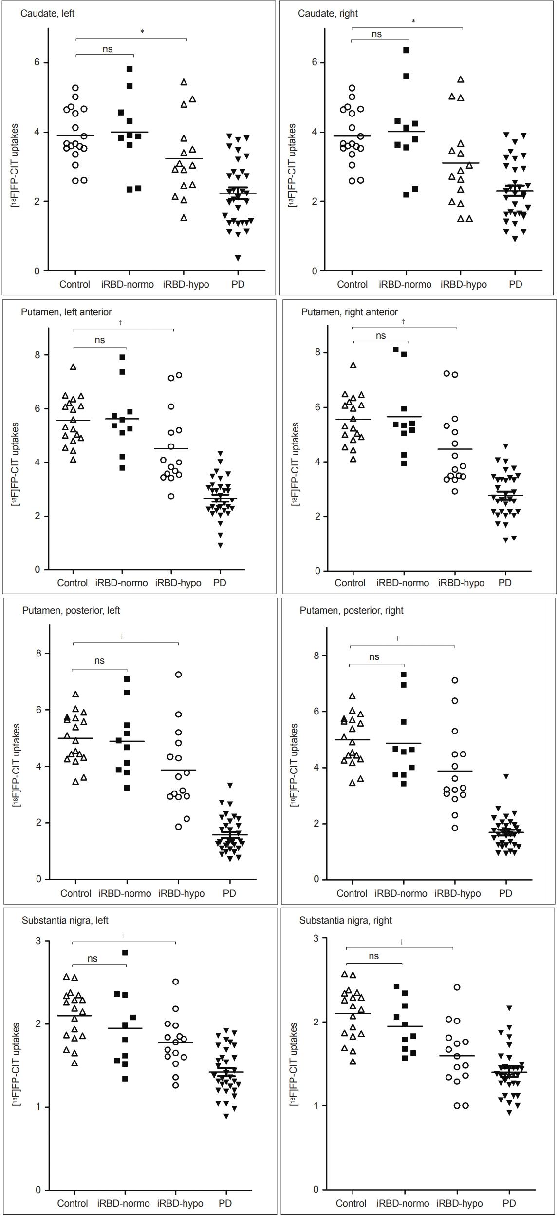 Nonmotor and Dopamine Transporter Change in REM Sleep Behavior